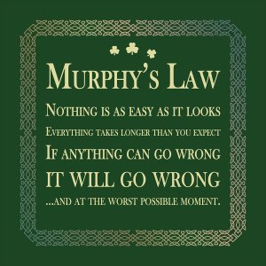 Murphy's Law cushion copy2